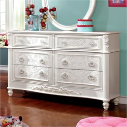 Furniture of America Paola Fairy Tale Dresser in White