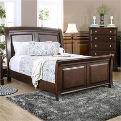 Glinda Bed in Brown Cherry