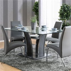 Furniture of America Alec Dining Table in Gray