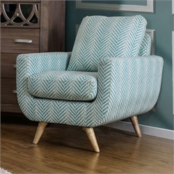 Azzie Stripped Accent Chair