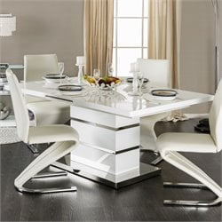 Furniture of America Verdell Dining Table in White