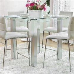 Furniture of America Marva Counter Height Dining Table in White