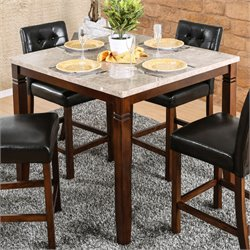 Furniture of America Phebe Counter Height Dining Table in Brown Cherry