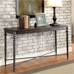 Furniture of America Glynis Industrial Console Table