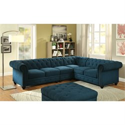 Booker Tufted Sectional With Armless Chair