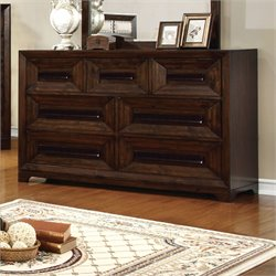 Furniture of America Kerstin 7 Drawer Dresser in Walnut
