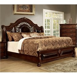 Lacresha Bed in Brown Cherry