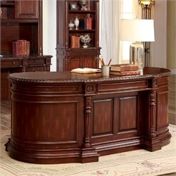 Furniture of America Sigrid Executive Desk in Cherry