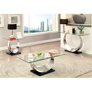 Suse Coffee Table Set in Satin Plated