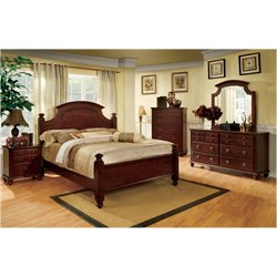 Dryton 4 Piece Bedroom Set in Cherry