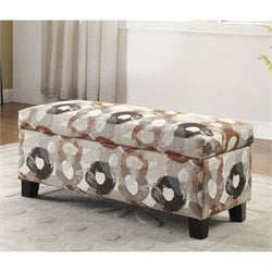 Sorriana Printed Storage Bench