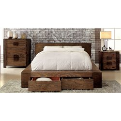 Furniture of America Elbert 3 Piece Queen Storage Bedroom Set