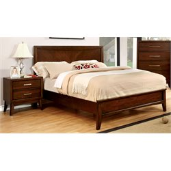 Bryant 2 Piece Bedroom Set in Brown Cherry