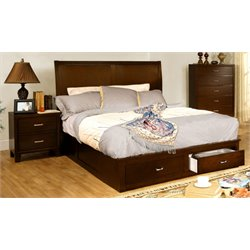 Ruggend 2 Piece Bedroom Set in Brown cherry