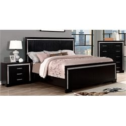 Clarice 3 Piece Bedroom Set in Black