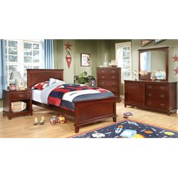 Hailey 3 Piece Bedroom Set in Cherry
