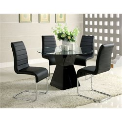 Dorazio 4 Piece Glass Top Dining Table
