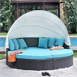 Furniture of America Fairentell Outdoor Daybed in Turquoise