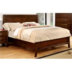 Furniture of America Bryant Full  Panel Bed in Brown Cherry