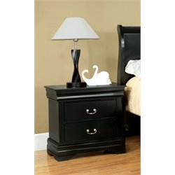 Furniture of America Easley Nightstand in Black