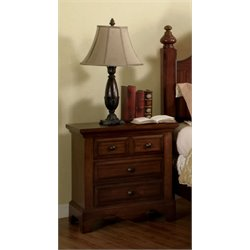 Furniture of America Fletcher Nightstand in Light Walnut