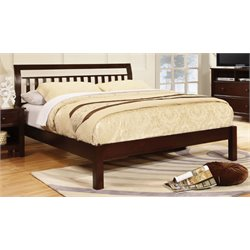Elena Bed in Dark Walnut