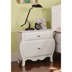 Furniture of America Palon Nightstand in White