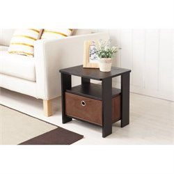 Furniture of America Mateo End Table in Black