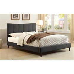 Furniture of America Sislah Upholstered Full Bed in Dark Gray