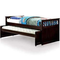 Furniture of America Lorretta Mates Bed in Espresso