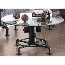 Furniture of America Lessandra Coffee Table in Antique Black