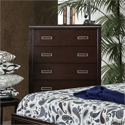 Furniture of America Caspien Modern Chest in Cherry