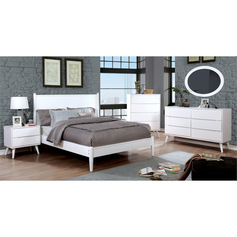 Furniture Of America Farrah Queen Panel Bed In White