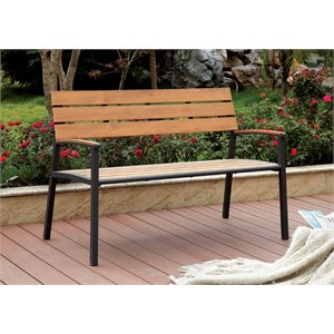 Furniture of America Adonde Transitional Outdoor Bench