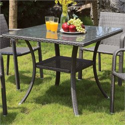 Furniture of America Tobar Contemporary Patio Bistro Table in Gray
