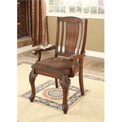 Furniture of America Jamis Dining Chair in Brown Cherry