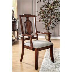 Furniture of America Kamella Dining Chair in Brown Cherry-SD