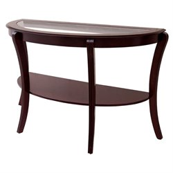 Furniture of America Stemplez Semi-Oval Console Table in Espresso