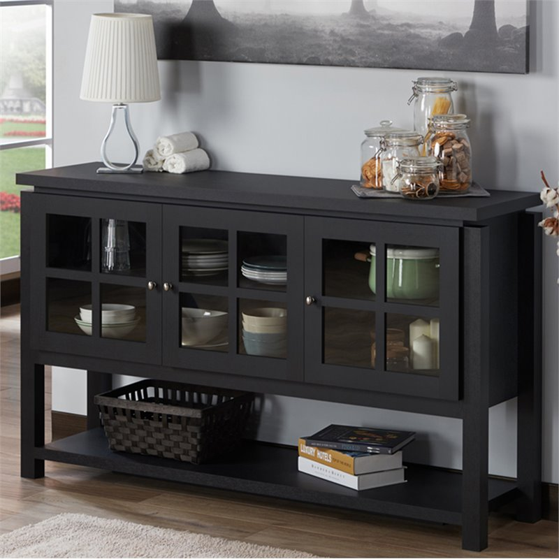 Furniture of America Tellun Contemporary Wood Buffet in Black