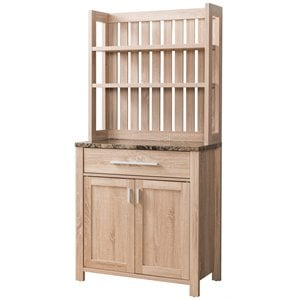 Furniture Of America Rye Bakers Rack In Weathered Sand