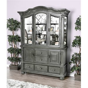 Furniture Of America Lepida China Cabinet In Gray