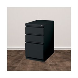 Trent Home Cobalt 3 Drawer Mobile File Cabinet in Black