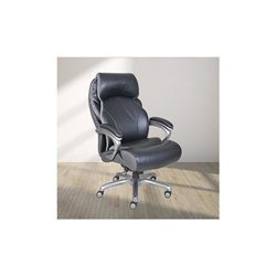 Trent Home Elements Executive Leather Office Chair in Black