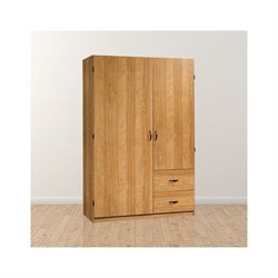 Trent Home Pointe Wardrobe Armoire in Oak