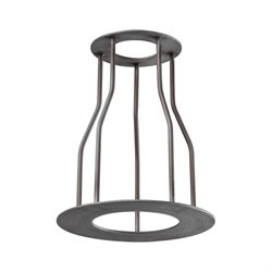 Elk Lighting Cast Iron Pipe Cage Lamp Shade in Weathered Zinc