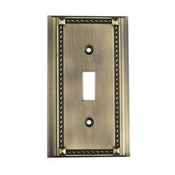 Elk Lighting Clickplates Single Switch Plate in Antique Brass