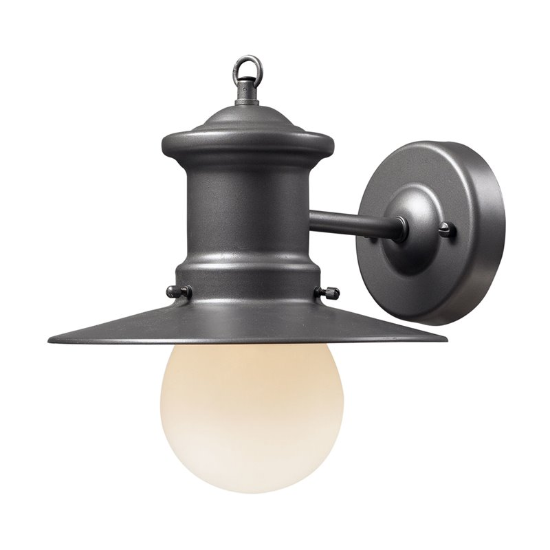 Elk Lighting Maritime Outdoor Wall Lantern in Graphite