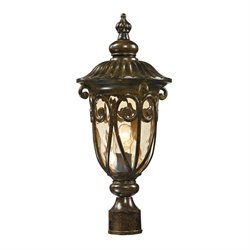 Elk Lighting Logansport Outdoor Post Light in Hazelnut Bronze