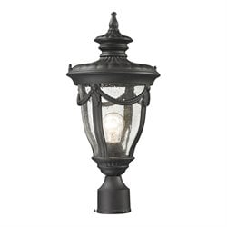 Elk Lighting Anise Outdoor Post Light in Textured Matte Black