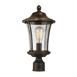 Elk Lighting Morganview Outdoor Post Light in Hazelnut Bronze